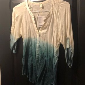 Anthropologie Tops - Anthropologie Tiny brand ombré blouse NWT